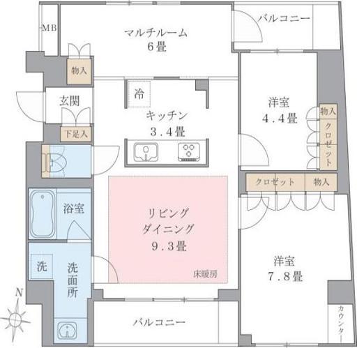 Brillia ist 東雲キャナルコート444号室