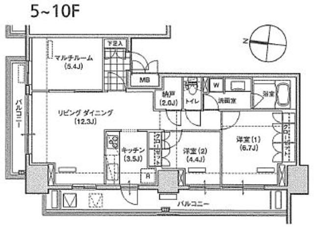 アパートメンツ東雲キャナルコート501号室