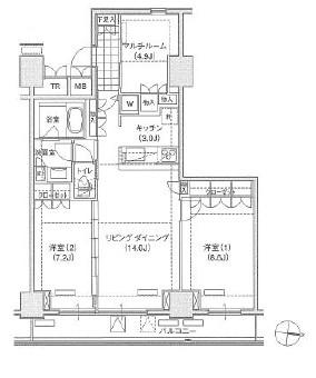 アパートメンツ東雲キャナルコート529号室