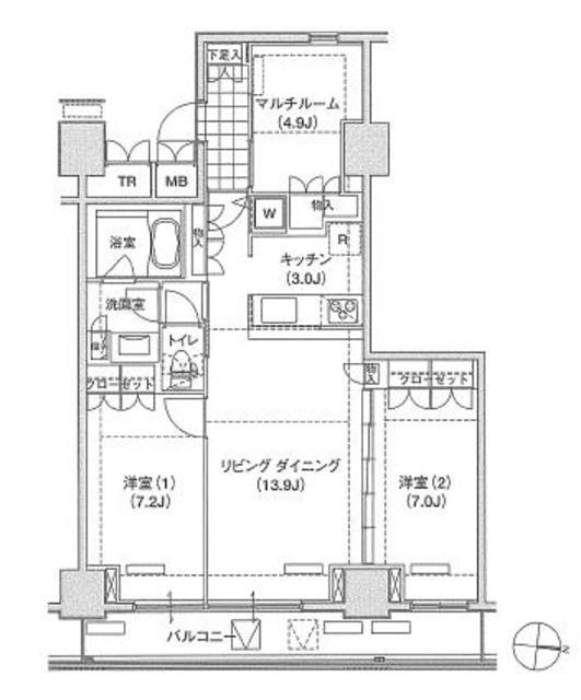 アパートメンツ東雲キャナルコート723号室