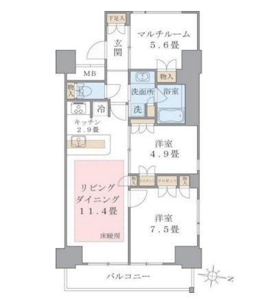 Brillia ist 東雲キャナルコート919号室
