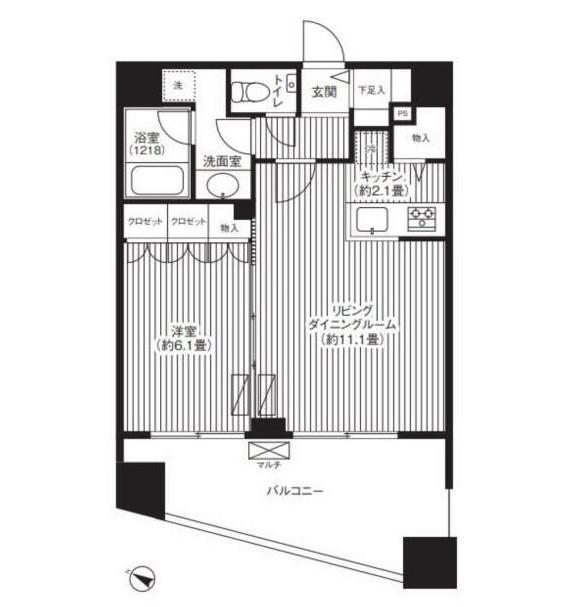 グランハイツ代々木1203号室
