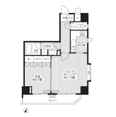 グランハイツ代々木1308号室