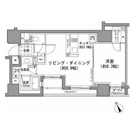 パークハビオ八丁堀205号室