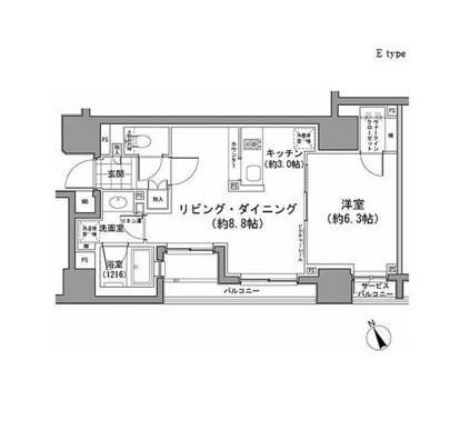 パークハビオ八丁堀305号室