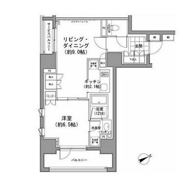 パークハビオ八丁堀306号室