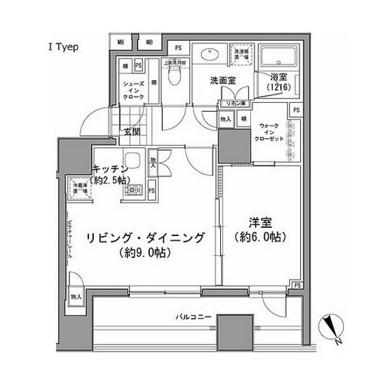 パークハビオ八丁堀809号室