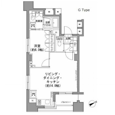 パークハビオ八丁堀907号室