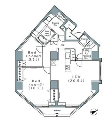パークハビオ麻布台1201号室