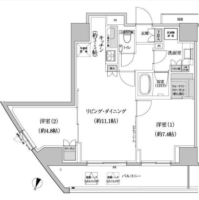 パークハビオ渋谷本町レジデンス1013号室