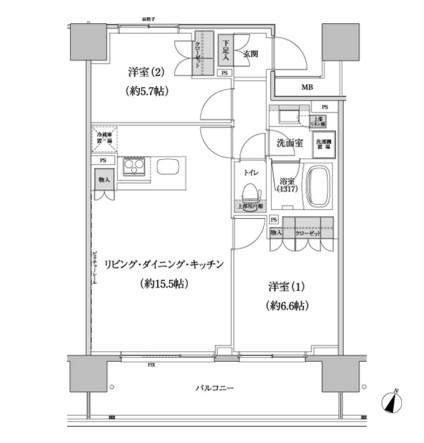 パークハビオ渋谷本町レジデンス1206号室