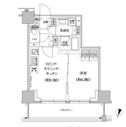 パークハビオ渋谷本町レジデンス213号室