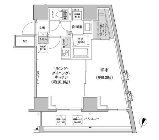 パークハビオ渋谷本町レジデンス413号室