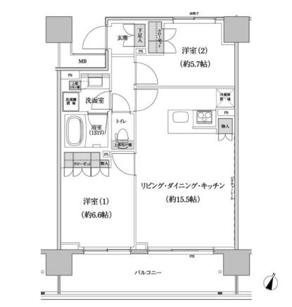 パークハビオ渋谷本町レジデンス518号室
