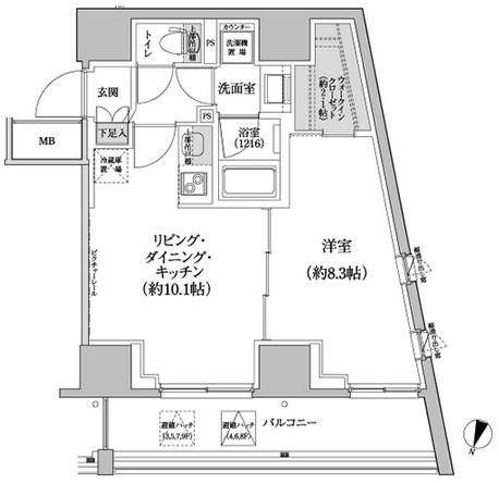 パークハビオ渋谷本町レジデンス614号室
