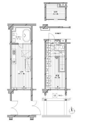 カスタリア麻布十番七面坂105号室