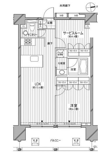 カスタリア麻布十番七面坂1303号室