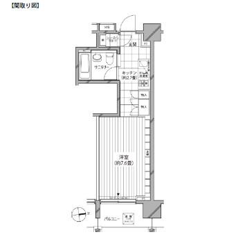 カスタリア麻布十番七面坂207号室
