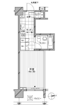 カスタリア麻布十番七面坂304号室