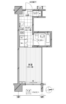 カスタリア麻布十番七面坂404号室