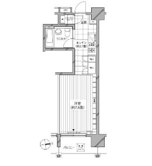 カスタリア麻布十番七面坂405号室