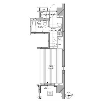 カスタリア麻布十番七面坂501号室