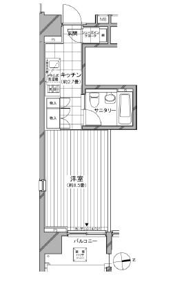 カスタリア麻布十番七面坂508号室