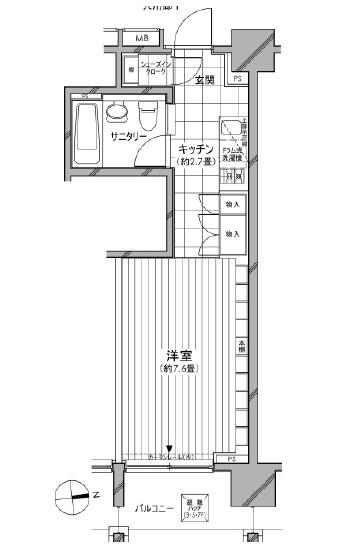 カスタリア麻布十番七面坂703号室