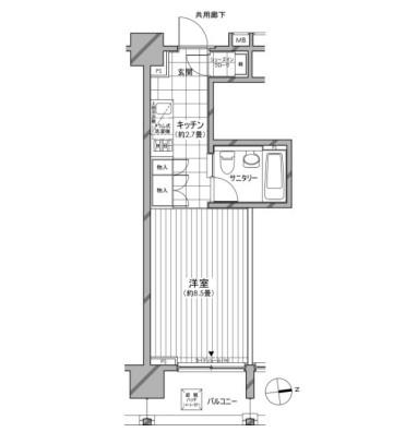 カスタリア麻布十番七面坂804号室