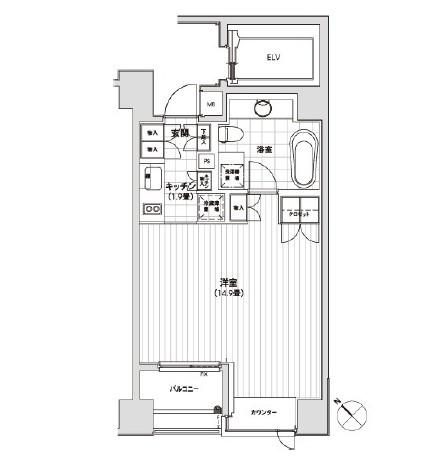 カスタリア銀座1001号室