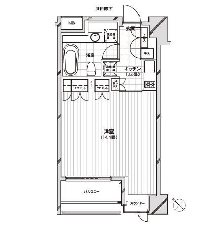 カスタリア銀座1102号室