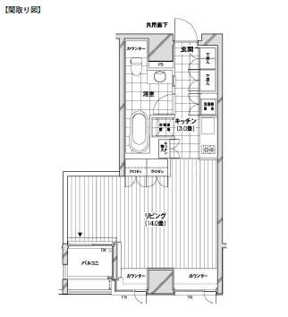 カスタリア銀座1203号室