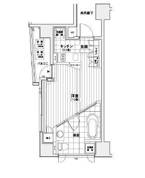 カスタリア銀座1205号室
