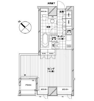 カスタリア銀座1303号室