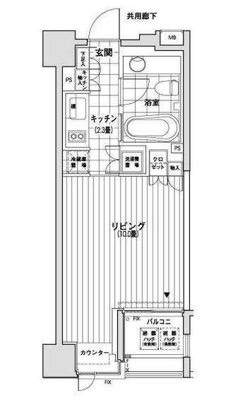 カスタリア銀座905号室