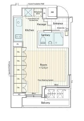 カスタリア麻布十番Ⅱ1002号室