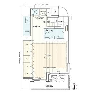 カスタリア麻布十番Ⅱ1201号室
