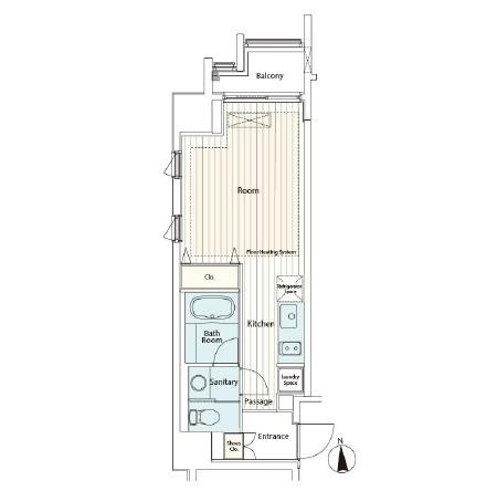 カスタリア麻布十番Ⅱ1206号室