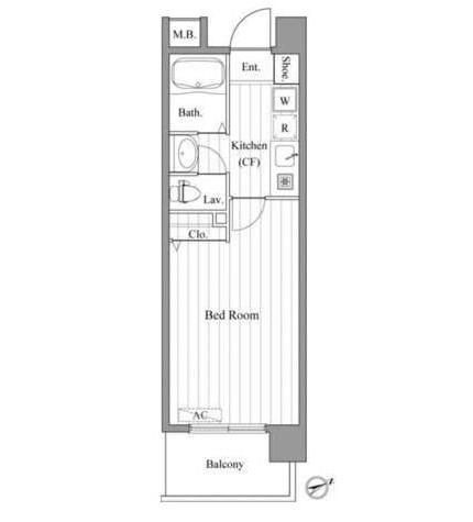 カスタリア新宿御苑Ⅱ702号室