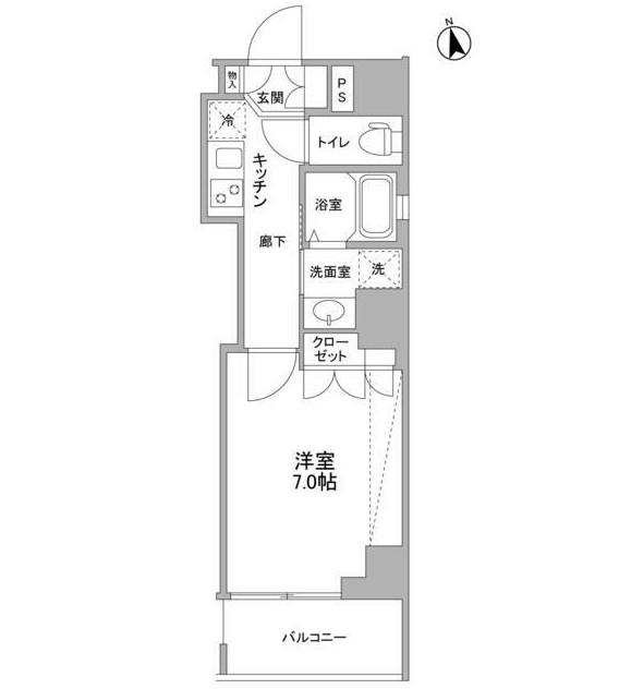 セルビシエ白金701号室
