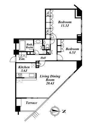 コスモリード南麻布 103号室