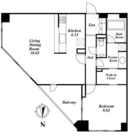 南麻布デュープレックスリズ 203号室