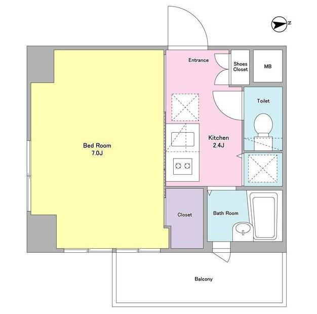 エル・フローラ常磐松802号室