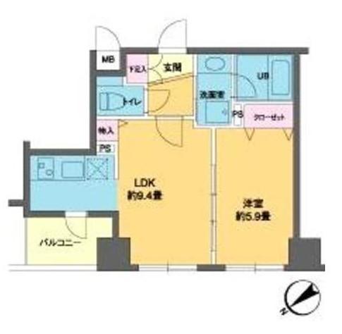 カスタリア北上野1204号室