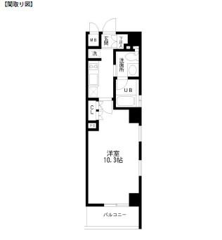 レジディア幡ヶ谷206号室