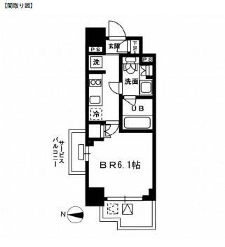 レジディア新宿イーストⅢ301号室