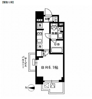 レジディア新宿イーストⅢ501号室