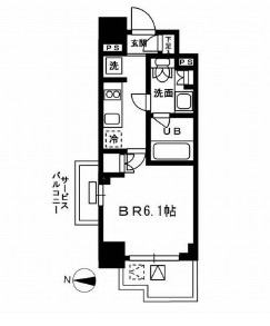 レジディア新宿イーストⅢ801号室