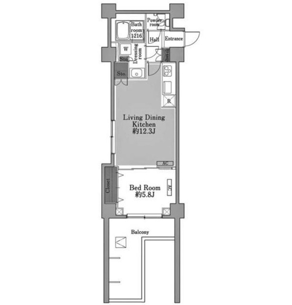 メゾン・ド・コリーヌ市ヶ谷407号室