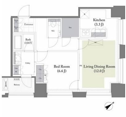ベイサイド竹芝1201号室